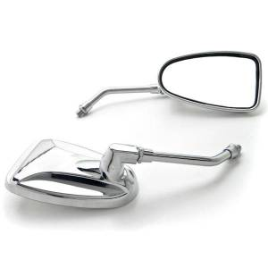 Krator SF-MCP037 Universal Motorcycle Cruiser Scooter Moped ATV Mirrors Bolt Adapters, Chrome