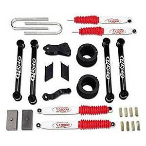 TUFF COUNTRY T1C-24997KN Complete Lift Suspension Kit with SX8000 SH, Black