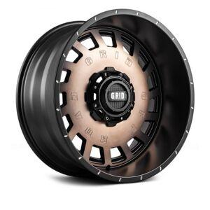 GRID WHEELS 3189237D18 18 x 9.0 in. 6 x 135-139.7 in. Bolt Pattern 12 Offset 108 mm Hub Wheel, Matte Black