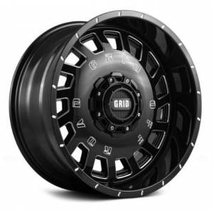 GRID WHEELS 32955M11 20 x 9.0 in. 5 x 150 in. Bolt Pattern 12 Offset 110.3 mm Hub Wheel, Gloss Black