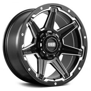 GRID WHEELS 62955M11 20 x 9.0 in. 5 x 150 in. Bolt Pattern 12 Offset 110.3 mm Hub Wheel