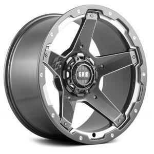 GRID WHEELS 42955G11 20 x 9.0 in. 5 x 150 in. Bolt Pattern 12 Offset 110.3 mm Hub Wheel, Gloss Graphite