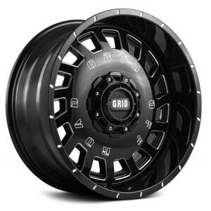 GRID WHEELS 32955M1 20 x 9.0 in. 5 x 150 in. Bolt Pattern 0 Offset 110.3 mm Hub Wheel, Gloss Black