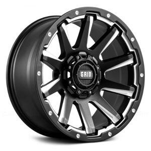 GRID WHEELS 52955F1 20 x 9.0 in. 5 x 150 in. Bolt Pattern 0 Offset 110.3 mm Hub Wheel, Matte Black