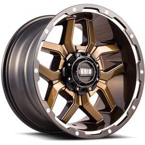 HARD TOP 717955R1 17 in. Dia. x 9 in. GD07 0 mm Offset, 5 x 150 mm Wheel with Black Lip, Gloss Bronze