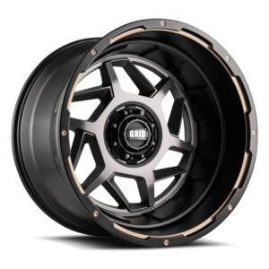 GRID WHEELS D17952A87 17 x 9 GD14 0 mm Offset 5 x 127 Anthracite with Black Lip Wheel