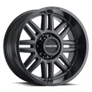 RACELINE 48B2905000 Split 20 x 9 0 mm Offset 5 x 127 Satin Black Wheel