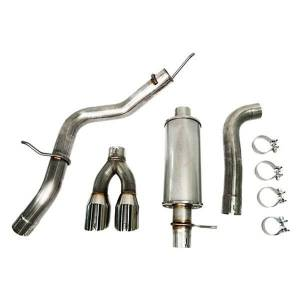 ROUSH 422179 304 Stainless Steel Cat-Back Exhaust System with Dual Side Exit for 2019-2020 Ranger 2.3L