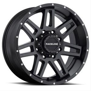 RACELINE 31B7906600 931B 17 x 9 in. 0 mm Offset Injector Wheel, Matte Black - 6 x 139.7 mm & 6 x 135 mm Bolt Pattern