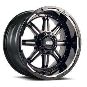 GRID WHEELS 12955M151 10 in. 20 x 9.0 in. Bolt 5 x 150 in. 15 mm Offset 110.3 mm Bore Wheel, Matte Black