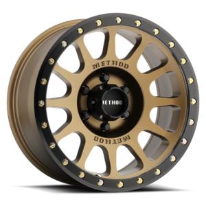 METHOD RACE WHEELS MRWMR30589058925 18 x 9 in. NV 5 x 15 in. 6.0 in. Backspace 25 mm Offset Wheel - Bronze & Black Street Loc