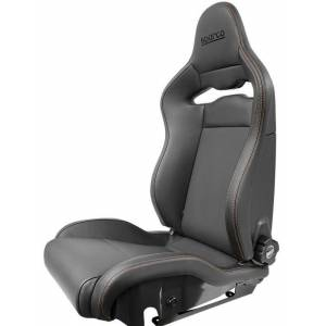 Sparco 00974ZGLNRRSSX Seat SPX Special Edition Black & Red with Gloss Carbon Shell - Left