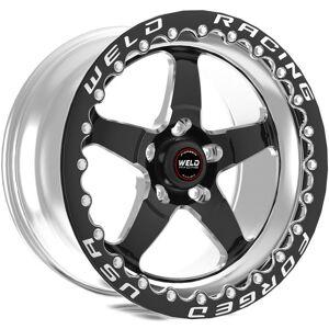 Weld 71HB7100C72F 7.2 in. 43 mm S71 17x10-5x5 BP & BS O & S Single Beadlock Wheel, Black