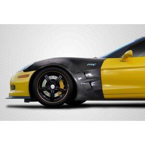 Rio 113812 Carbon Fiber ZR1 Look Front Fenders for 2005-2013 Chevrolet Corvette C6 - 2 Piece