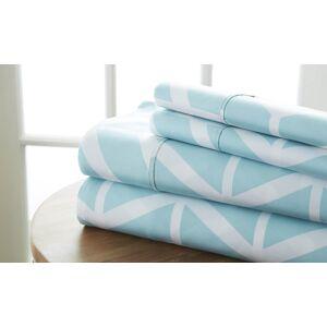 RugRat California King Premium Ultra Soft Arrow Pattern Bed Sheet Set, Turquoise - Pack of 12 & 4 Piece