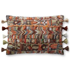 Loloi Rugs P235P0971ML00PI15 Multi Color Rectangle Pillow Cover Only, 16 x 26 in.