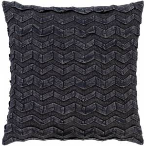 Surya CPR004-2020 20 x 20 in. Caprio Woven Pillow Cover, Black