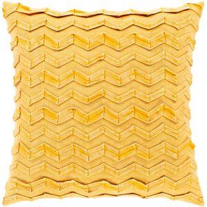 Surya CPR005-2020 20 x 20 in. Caprio Woven Pillow Cover, Saffron