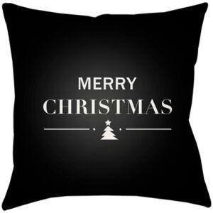 Surya PHDMH001-1616 Merry Holiday 16 x 16 x 4 in. Throw Pillow, Black - Medium