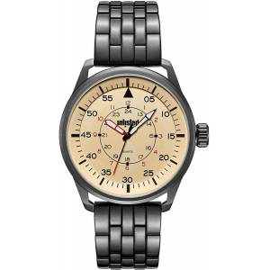 Unlisted UL51152005 44.5 mm Beige Kenneth Cole Round Analog Watch for Men