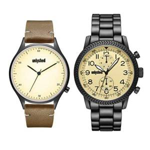 Unlisted UL51146002 42 mm Beige Kenneth Cole Round Analog Watch for Men