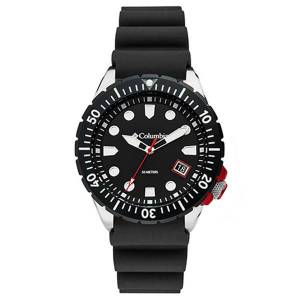 Columbia CSC04-001 10 in. Pacific Outlander 3-Hand Date Black Silicone Watch for Men, Black