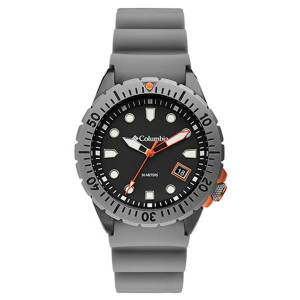 Columbia CSC04-002 10 in. Pacific Outlander 3-Hand Date Gray Silicone Watch for Men, Dark Gray