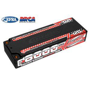 Corally COR49623 8000 mAh 7.6V 2S 120C Voltax Hardcase Lipo Battery - 4 mm