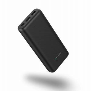 Techsmarter TS-16917 20000mAh 18W USB C Power Delivery Portable Phone Charger, Power Bank