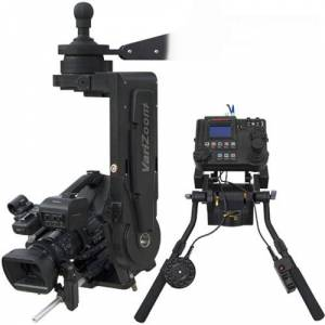 VariZoom VZCINEMAPRO-JRK2 CPJR Head with Advanced Console - Pan Bars Control Cable Power Supply & Case - 50 & 30 ft.