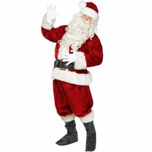 Brybelly MCOS-114XL Jolly Ol St. Nick Adult Costume - Extra Large