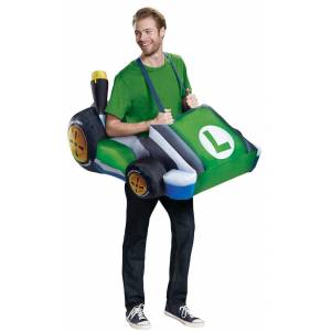 Dispguise Disguise DG15668AD Standard Super Mario Inflatable Luigi Kart Adult Costume - One Size Fits Most