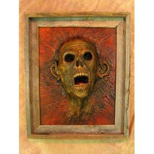 Skeletons & More PIC-100 Framed 3D Life-Size Zombie Head