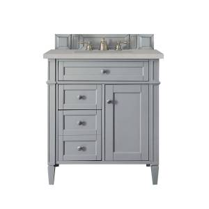 James Martin Furniture 650-V30-UGR-3ESR 30 in. Brittany Single Vanity with 3 CM Eternal Serena Quartz Top, Urban Gray