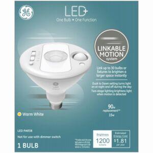 G E Lighting 272388 15W Par38 Reflector Bulb Linkable Motion LED Flood Light