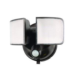 Halo 3003013 Motion-Sensing Battery Powered LED Bronze Floodlight