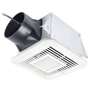 Delta Electronics ELT80-110HLED BreezElite 80-110 CFM Exhaust Bath Fan, Dimmable LED Light & Adjustable High & Low Speeds & Humidity Sensor