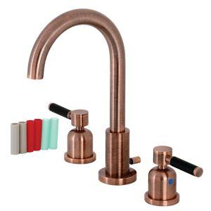 Fauceture FSC892DKLAC Kaiser Widespread Bathroom Faucet, Antique Copper