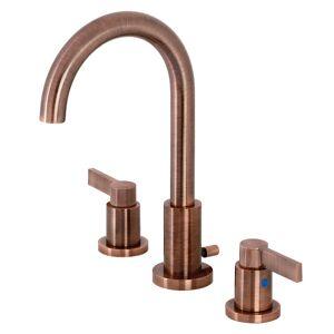 Fauceture FSC892NDLAC NuvoFusion Widespread Bathroom Faucet, Antique Copper