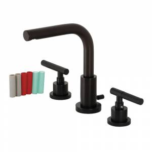 Fauceture FSC8950CKL Kaiser Widespread Bathroom Faucet with Brass Pop-Up, Matte Black