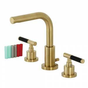 Kingston FSC8953CKL Fauceture Kaiser Widespread Bathroom Faucet with Brass Pop-Up, Brushed Brass