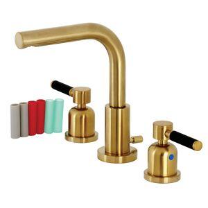 Kingston FSC8953DKL 8 in. Fauceture Widespread Bathroom Faucet, Brushed Brass
