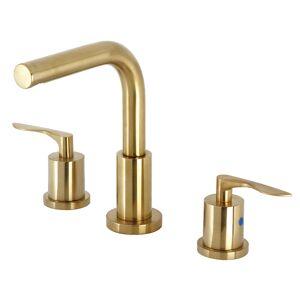 Kingston FSC8953SVL Serena Widespread Bathroom Faucet with Brass Pop-Up, Brushed Brass