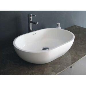 Legion Furniture WJ9034 22.8 in. White Matt Solid Surface Bowl - 5.50 x 15 x 22.80 in.