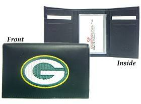 Caseys Green Bay Packers Wallet Trifold Leather Embroidered