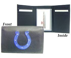 Caseys Indianapolis Colts Wallet Trifold Leather Embroidered