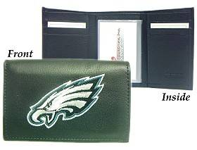 Caseys Philadelphia Eagles Wallet Trifold Leather Embroidered