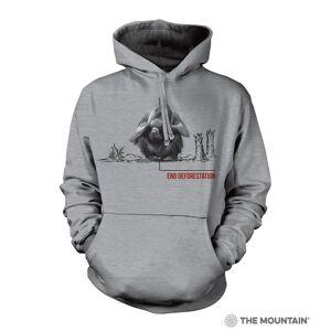 The Mountain 7255702 Grey Deforestation Orangutan Hoodie - Large