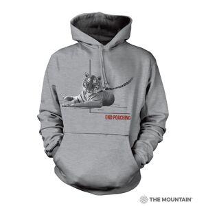 The Mountain 7255721 Grey Poaching Tiger Hoodie - Medium