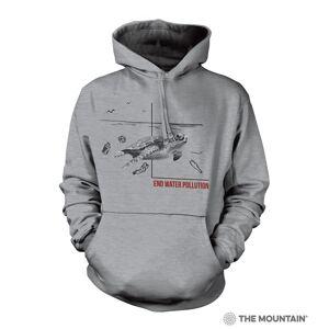 The Mountain 7255741 Grey Water Pollution Turtle Hoodie - Medium